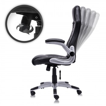 MY SIT Office Chair Racing in Black V10 Synthetic Leather – Bild 3