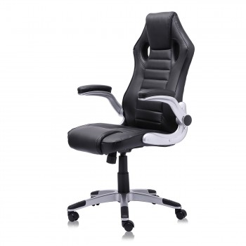 MY SIT Office Chair Racing in Black V10 Synthetic Leather – Bild 1