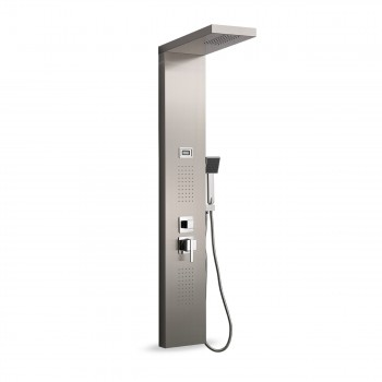 GAJO Shower Panel Rain Shower made of Stainless steel with digital Temperature display - Aqua – Bild 1