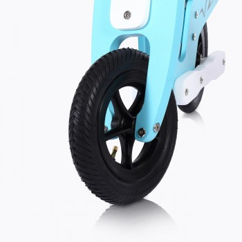 Baby Vivo 10 inch balance bike / trainer bike made of wood with bike bell - Capri blue – Bild 11