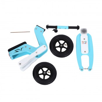 Baby Vivo 10 inch balance bike / trainer bike made of wood with bike bell - Capri blue – Bild 12