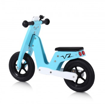 Baby Vivo 10 inch balance bike / trainer bike made of wood with bike bell - Capri blue – Bild 2