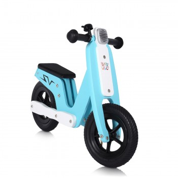 Baby Vivo 10 inch balance bike / trainer bike made of wood with bike bell - Capri blue – Bild 6
