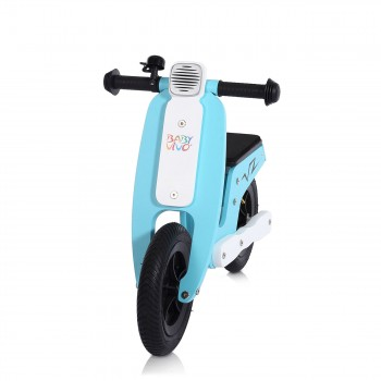 Baby Vivo 10 inch balance bike / trainer bike made of wood with bike bell - Capri blue – Bild 7