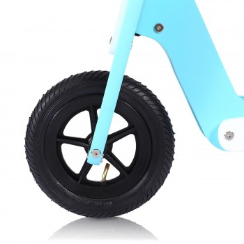 Baby Vivo 10 inch balance bike / trainer bike made of wood with bike bell - Capri blue – Bild 8