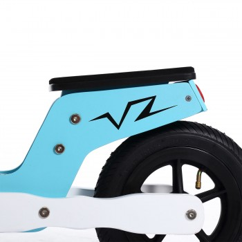 Baby Vivo 10 inch balance bike / trainer bike made of wood with bike bell - Capri blue – Bild 9
