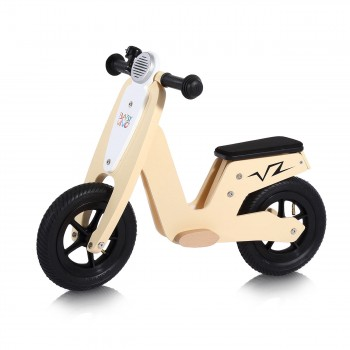Baby Vivo 10 inch balance bike / trainer bike made of wood with bike bell - Capri – Bild 1