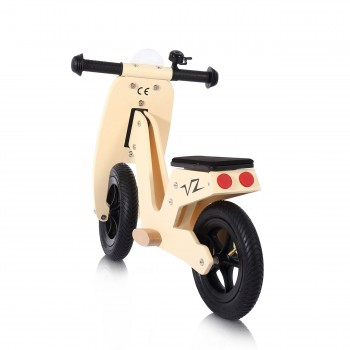 Baby Vivo 10 inch balance bike / trainer bike made of wood with bike bell - Capri – Bild 3