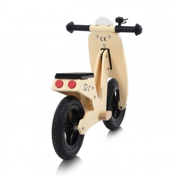 Baby Vivo 10 inch balance bike / trainer bike made of wood with bike bell - Capri – Bild 4