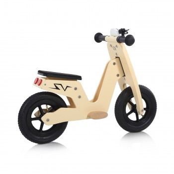Baby Vivo 10 inch balance bike / trainer bike made of wood with bike bell - Capri – Bild 5