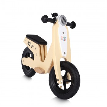 Baby Vivo 10 inch balance bike / trainer bike made of wood with bike bell - Capri – Bild 6