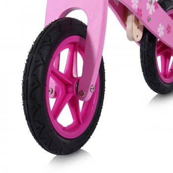 Baby Vivo 12 inch balance bike / trainer bike made of wood with bike bell - Pinky – Bild 11