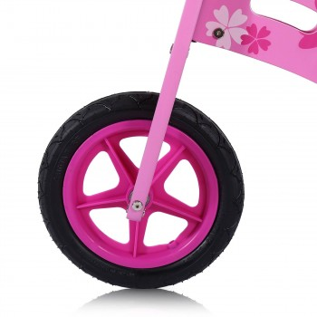 Baby Vivo 12 inch balance bike / trainer bike made of wood with bike bell - Pinky – Bild 8