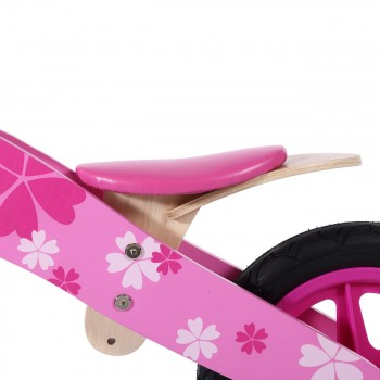 Baby Vivo 12 inch balance bike / trainer bike made of wood with bike bell - Pinky – Bild 9