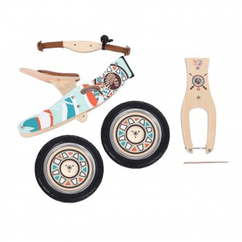 Baby Vivo 12 inch balance bike / trainer bike made of wood with bike bell - Winnie – Bild 11