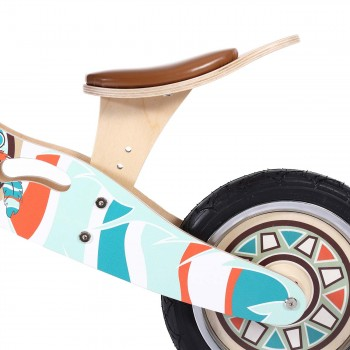 Baby Vivo 12 inch balance bike / trainer bike made of wood with bike bell - Winnie – Bild 10
