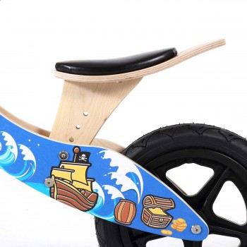 Baby Vivo 12 inch balance bike / trainer bike made of wood with bike bell - Jack – Bild 10