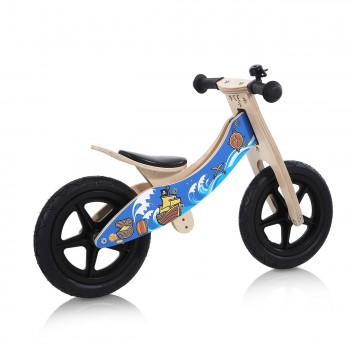 Baby Vivo 12 inch balance bike / trainer bike made of wood with bike bell - Jack – Bild 5