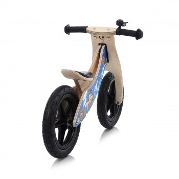 Baby Vivo 12 inch balance bike / trainer bike made of wood with bike bell - Jack – Bild 4
