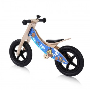 Baby Vivo 12 inch balance bike / trainer bike made of wood with bike bell - Jack – Bild 2