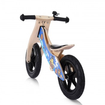 Baby Vivo 12 inch balance bike / trainer bike made of wood with bike bell - Jack – Bild 3