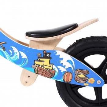 Baby Vivo 12 inch balance bike / trainer bike made of wood with bike bell - Jack – Bild 9