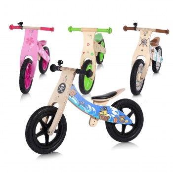 Baby Vivo 12 inch balance bike / trainer bike made of wood with bike bell - Jack – Bild 13