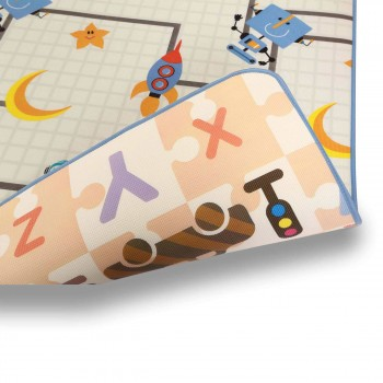 Baby Vivo Two-sided play mat for kids with letters 200 x 180 cm - Galaxy – Bild 11