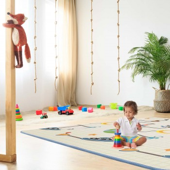 Baby Vivo Two-sided play mat for kids with letters 200 x 180 cm - Galaxy – Bild 1