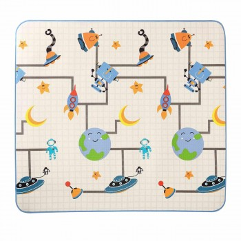 Baby Vivo Two-sided play mat for kids with letters 200 x 180 cm - Galaxy – Bild 9