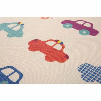 Baby Vivo Two-sided play mat for kids with letters 180 x 150 cm - Cars – Bild 5