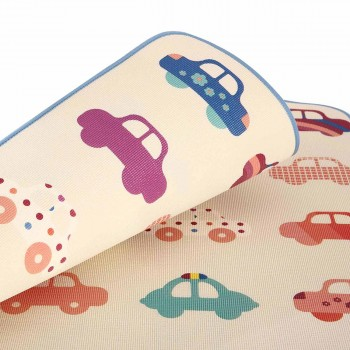 Baby Vivo Two-sided play mat for kids with letters 180 x 150 cm - Cars – Bild 7