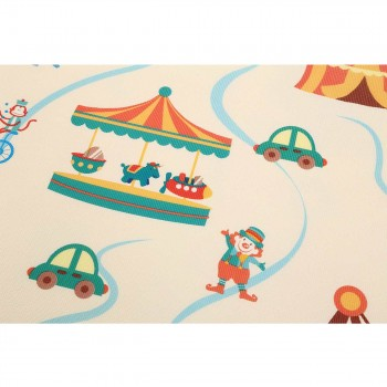 Baby Vivo Two-sided play mat for kids with letters 200 x 150 cm - Circus – Bild 5