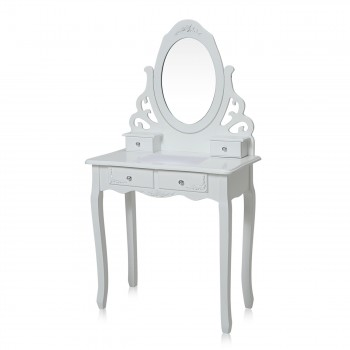 Makika Dressing table / Make-up table ZOE with rotatable mirror and padded stool – Bild 2