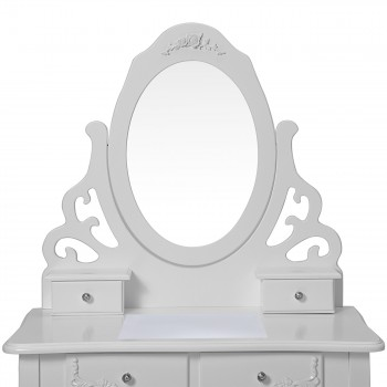 Makika Dressing table / Make-up table ZOE with rotatable mirror and padded stool – Bild 5