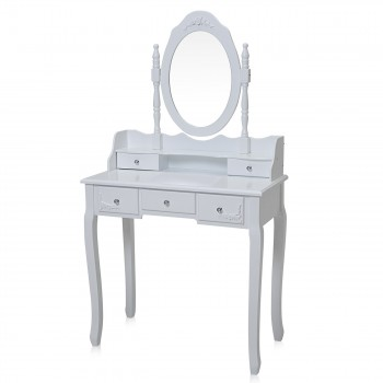 Makika Dressing table / Make-up table CARA with rotatable mirror and padded stool – Bild 2