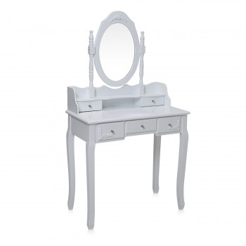 Makika Dressing table / Make-up table CARA with rotatable mirror and padded stool – Bild 3