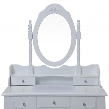 Makika Dressing table / Make-up table CARA with rotatable mirror and padded stool – Bild 5
