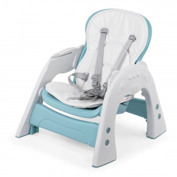 Baby Vivo 2-in-1 Child's Highchair / Combo Plastic High Chair with Table and Casters - Mara in Mint green – Bild 15