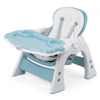 Baby Vivo 2-in-1 Child's Highchair / Combo Plastic High Chair with Table and Casters - Mara in Mint green – Bild 14
