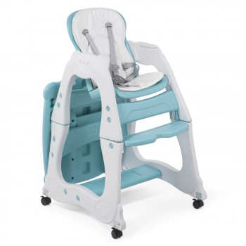 Baby Vivo 2-in-1 Child's Highchair / Combo Plastic High Chair with Table and Casters - Mara in Mint green – Bild 8