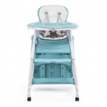 Baby Vivo 2-in-1 Child's Highchair / Combo Plastic High Chair with Table and Casters - Mara in Mint green – Bild 9