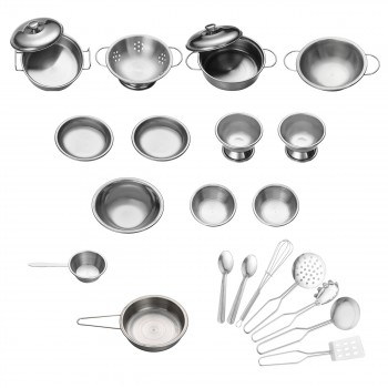 Baby Vivo Children's Kitchen Accessories - 22-piece Cookware Set made of Stainless Steel – Bild 1