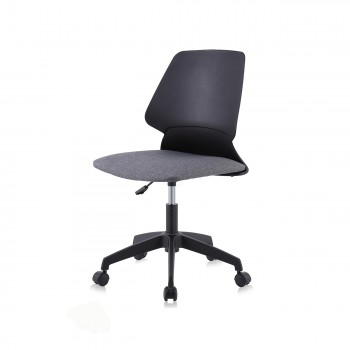 MY SIT Office Chair / Design Stool Swivel Chair NEO with Soft Floor Castors in Black/Grey – Bild 1
