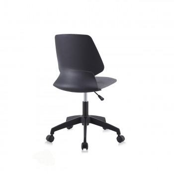 MY SIT Office Chair / Design Stool Swivel Chair NEO with Soft Floor Castors in Black/Grey – Bild 5