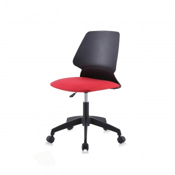 MY SIT Office Chair / Design Stool Swivel Chair NEO with Soft Floor Castors in Black/Red – Bild 1