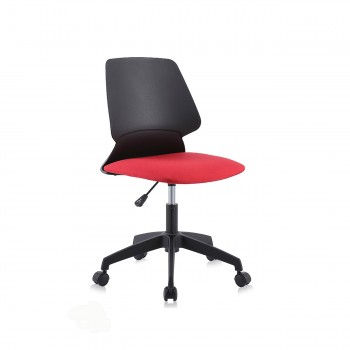 MY SIT Office Chair / Design Stool Swivel Chair NEO with Soft Floor Castors in Black/Red – Bild 3