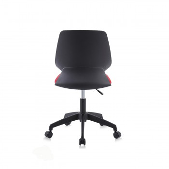 MY SIT Office Chair / Design Stool Swivel Chair NEO with Soft Floor Castors in Black/Red – Bild 4