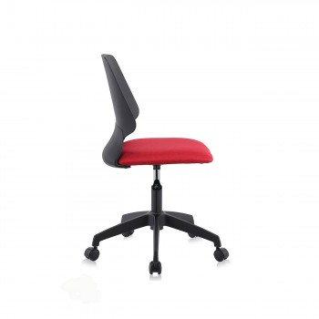 MY SIT Office Chair / Design Stool Swivel Chair NEO with Soft Floor Castors in Black/Red – Bild 6
