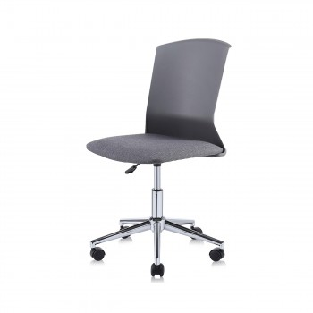 MY SIT Office Chair / Design Stool Swivel Chair NEO with Soft Floor Castors in Grey – Bild 1